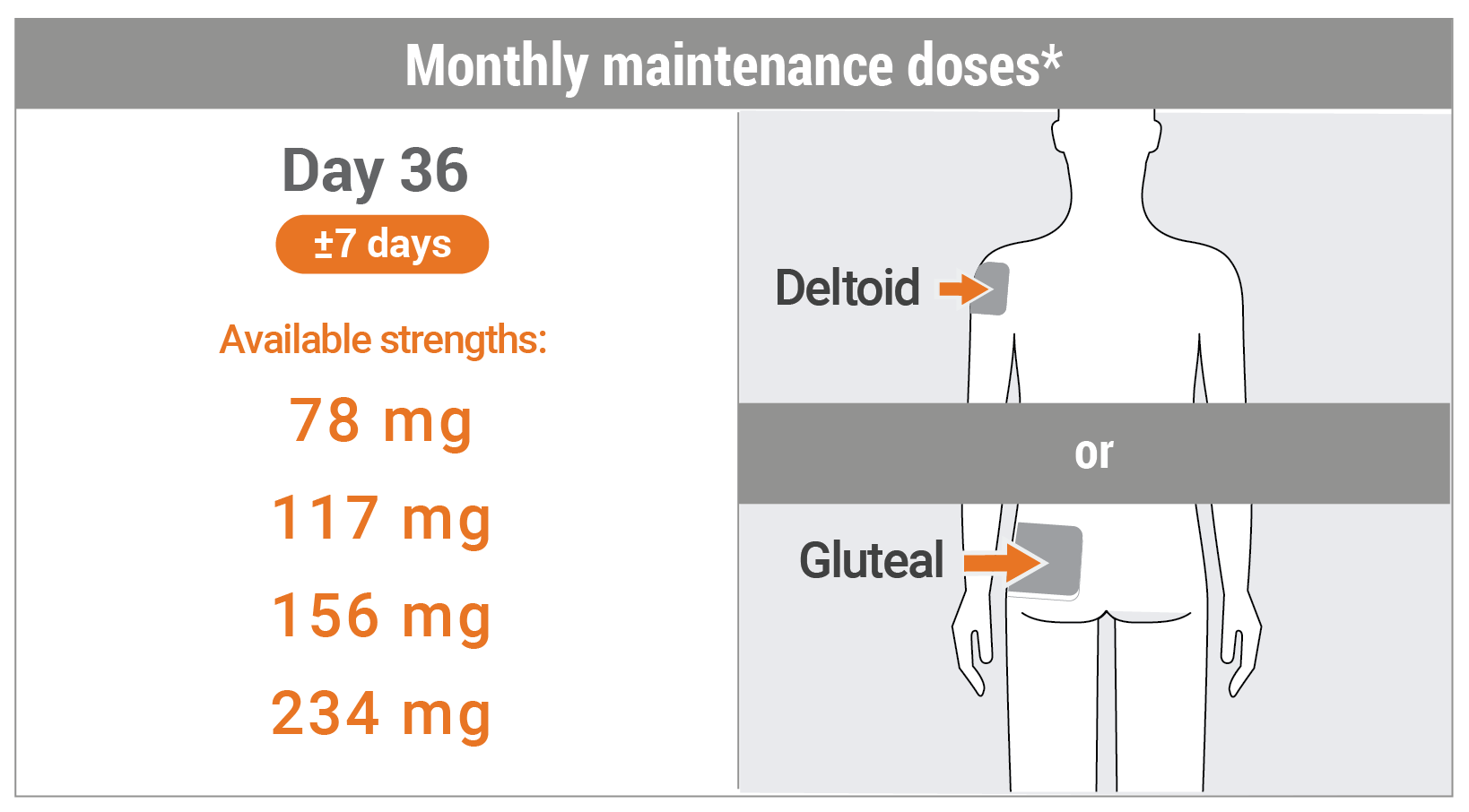 monthly maintenance doses